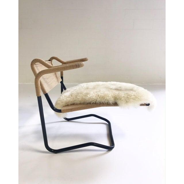 Dan Johnson Dan Johnson for California Living Model 2750 Lounge Chair With Brazilian Sheepskin For Sale - Image 4 of 9