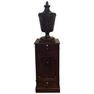 18th Century George III Mahogany Urn on Stand For Sale