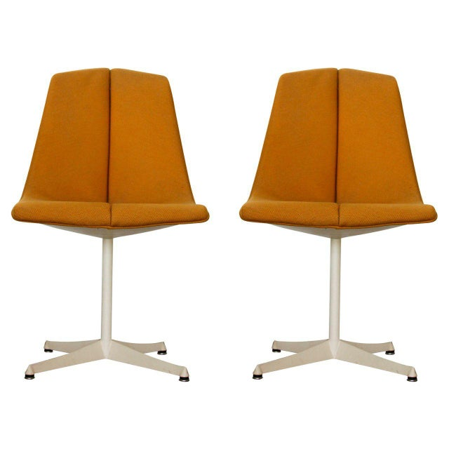 Orange 1960s Vintage Richard Schultz for Knoll Side Chairs- a Pair For Sale - Image 8 of 8