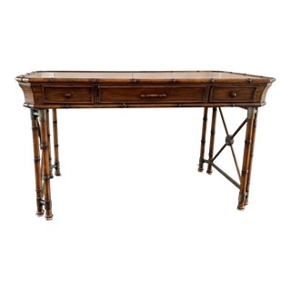 Chinoiserie Faux Bamboo Style Desk by Hooker Furniture For Sale