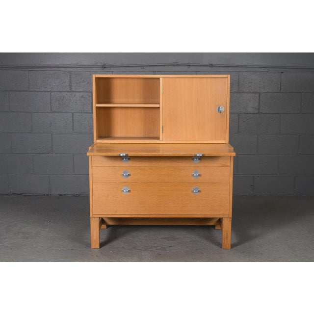 Danish Modern Oak Bookcase Unit and Chest For Sale - Image 9 of 9