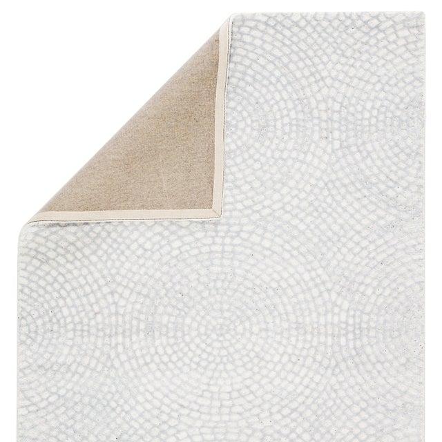 Pollack by Jaipur Living Impresario Handmade Medallion White/ Silver Area Rug - 8′ × 10′ For Sale - Image 4 of 5