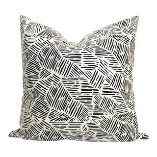 "Black & White Graphic ""Wavves"" Throw Pillow For Sale"