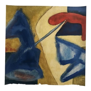 1950s Vintage Richard M. Goodwin Mid-Century Modern Abstract Painting For Sale