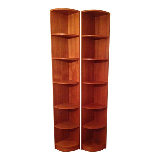 Scandinavian Style Corner Shelves - Pair - Image 1 of 6