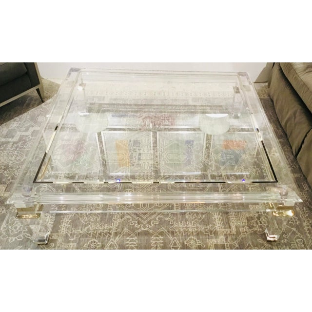 Contemporary Caracole Signature Contemporary Acrylic Pierre Cocktail Table For Sale - Image 3 of 7