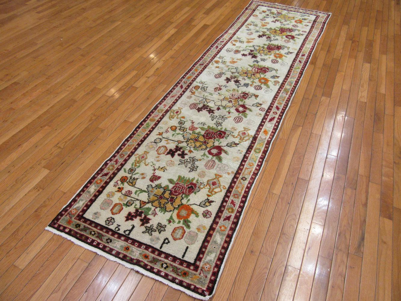 What Makes Turkish Rugs Great How You Can Read The Design Of A Turkish Rug: Surena Rugs Handmade Vintage Ivory Floral Turkish Runner