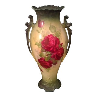 Antique Wheeling Pottery La Belle China Porcelain Rose Vase