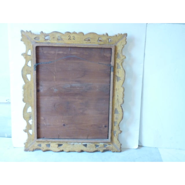 Italian Carved Giltwood Mirror For Sale - Image 5 of 6