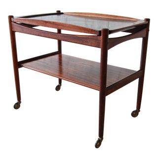 Danish Modern Rosewood Bar or Tea Cart