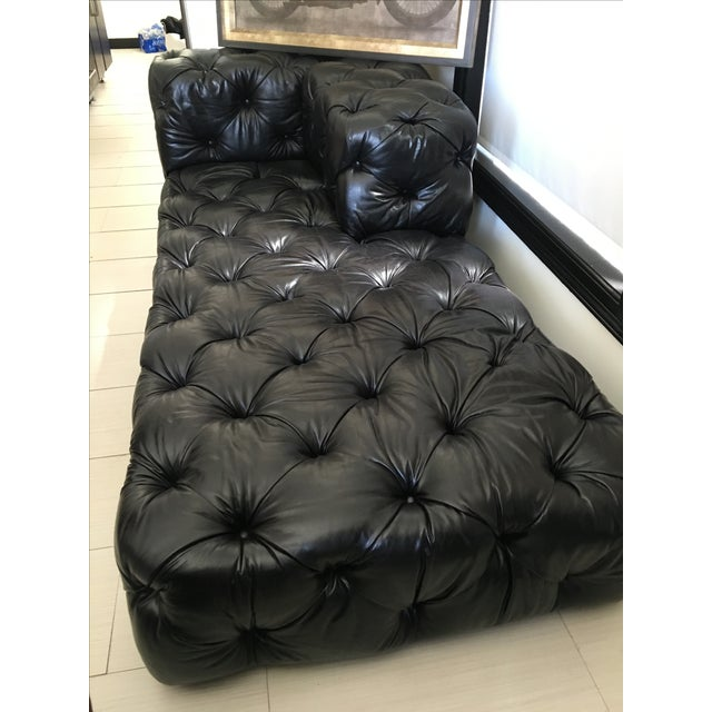 Soho Tufted Leather Left-Arm Chaise Sectional - Image 2 of 3