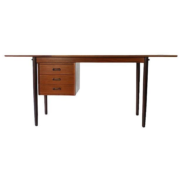 Danish Modern Drop-Leaf Desk by Arne Vodder for H Sigh - Image 2 of 7