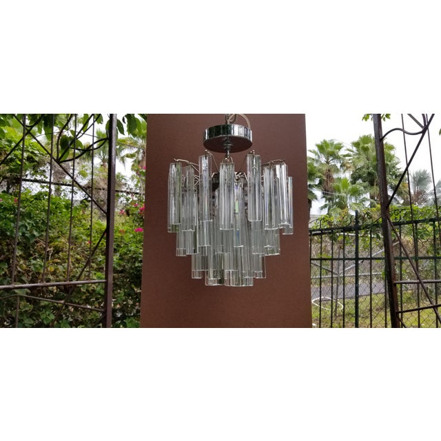 1960s Italian Glass Chandelier For Sale In Miami - Image 6 of 7