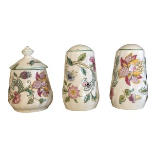 Vintage 1990s Minton Salt, Pepper and Mustard Pot - Set of 3 For Sale