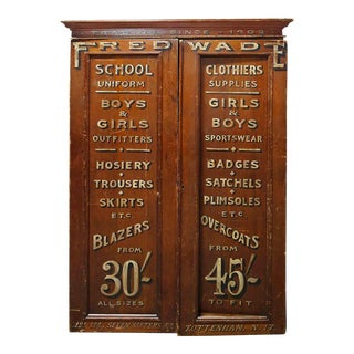 Antique Clothing Store Cabinet For Sale