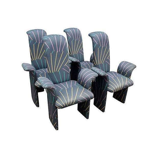 Memphis Style Dining Chairs - Set of 4 For Sale
