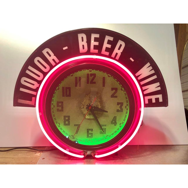 Black Neon Clock For Sale - Image 8 of 8