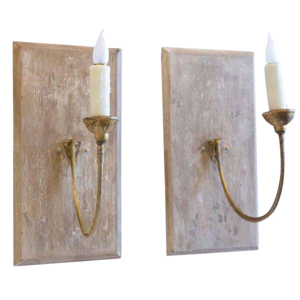 Pair of Large 19th Century Gilt Iron Sconces - Image 1 of 10