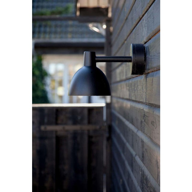 Poul Henningsen Louis Poulsen 'Todbold' Outdoor Wall Light in Black For Sale - Image 4 of 5