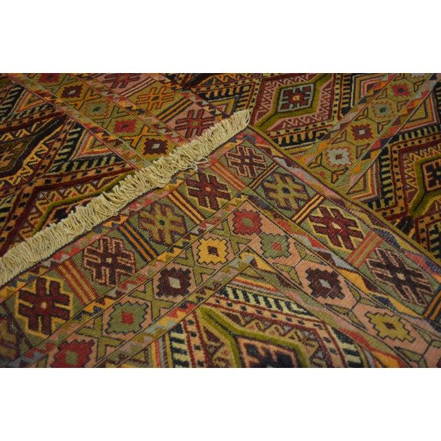 "Vintage Handmade Nakhunak Kilim Rug - 4'5"" x 5'7"" For Sale In Orlando - Image 6 of 7"