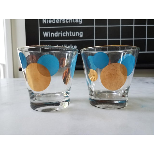 Russel Wright Mid-Century Eclipse Gold Cocktail Glasses - Set of 6 - Image 7 of 10