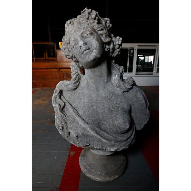Stone Classical Bust - Cast Stone For Sale - Image 7 of 7