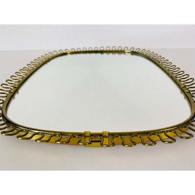 Italian Brass Framed Wall Mirror, 1960s, Italy For Sale - Image 10 of 11
