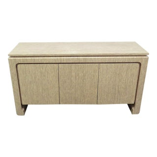 Mid-Century Modern Tan Wooden Sideboard For Sale