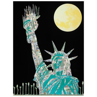 Pop Art Lovable Liberty Painting by Mauro Oliveira For Sale