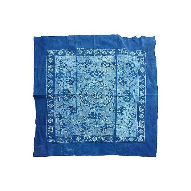 Vintage Indigo Batik Panel - Image 1 of 7