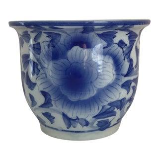 Blue & White Orchid Pot
