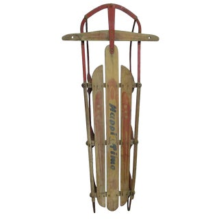 Vintage Happy Time Sled