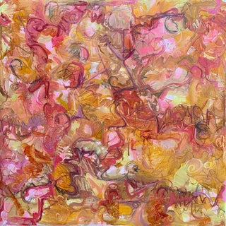 """""""Lover's Quarrel"""" by Trixie Pitts Large Abstract Expressionist Oil Painting For Sale"""