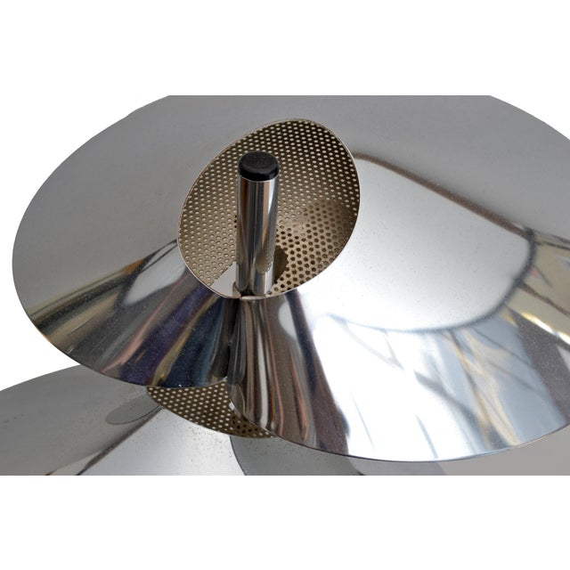 Curtis Jere Double Sided 'Visor' Table Lamps in Chrome, A Pair For Sale In Miami - Image 6 of 10