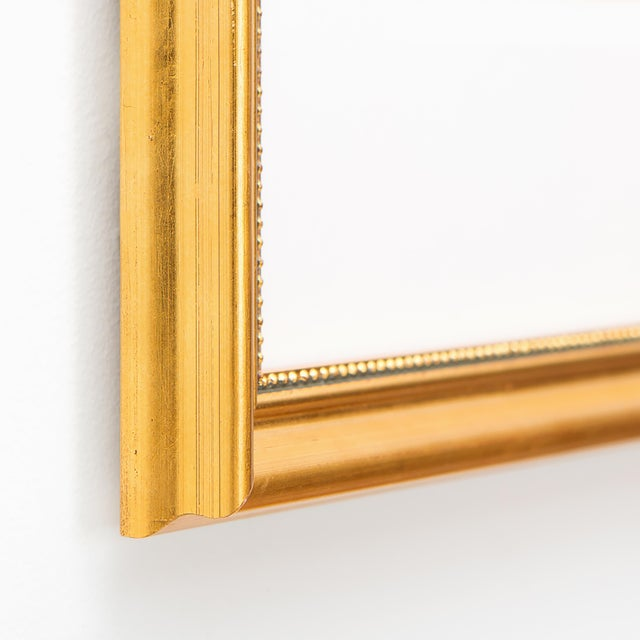 Soicher Marin Flamingo Print in Gold Bamboo Frame | Chairish