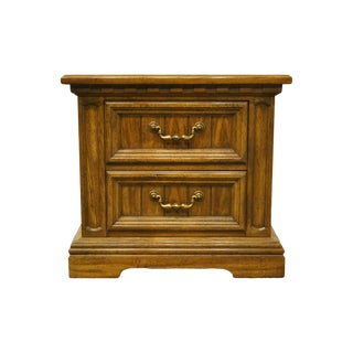 Late 20th Century Dixie Furniture Italian Provincial Two Drawer Nightstand For Sale