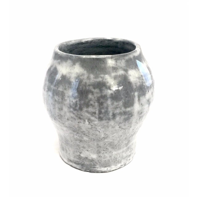 Blue & Gray Clay Vase - Image 2 of 4
