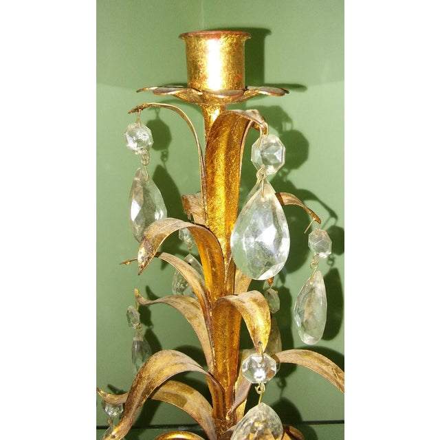 Vintage Italian Metal Tole Candelabra For Sale - Image 5 of 5