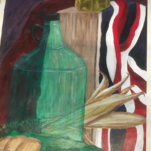 Contemporary Original Vintage Painting Student Study Still Life For Sale - Image 3 of 7