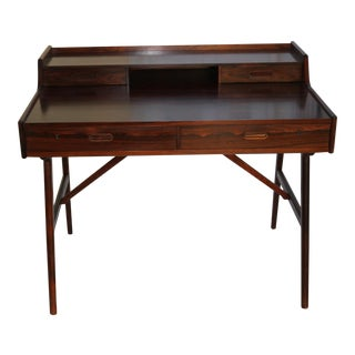 Vintage Arne Wahl Iversen Model 64 Rosewood Vinde Mobelfabrik Desk For Sale