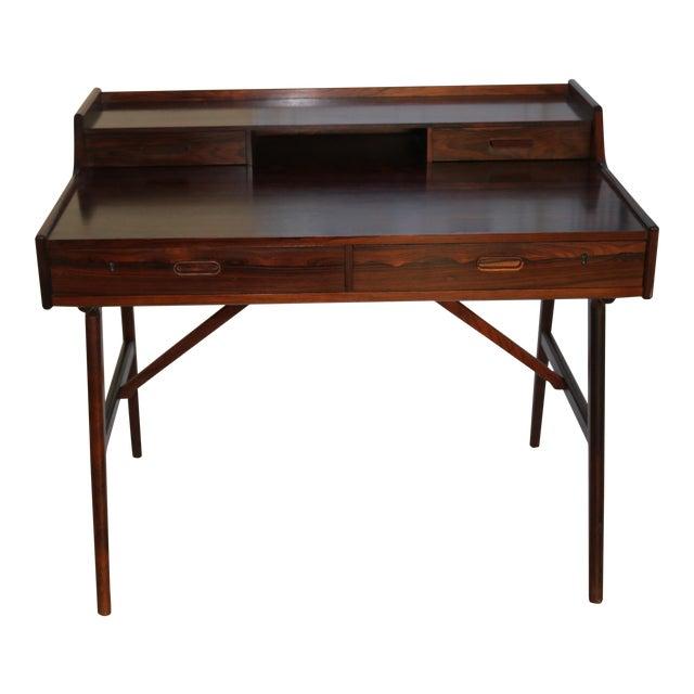 Vintage Arne Wahl Iversen Model 64 Rosewood Vinde Mobelfabrik Desk For Sale