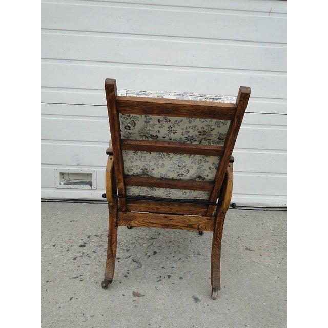 Antique Oak Carved Childs Morris Chair - Image 5 of 9 - Antique Oak Carved Childs Morris Chair Chairish