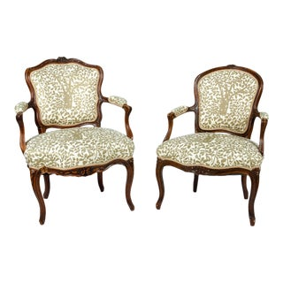 Early 19th Century Louis XVI Side Armchairs - a Pair For Sale
