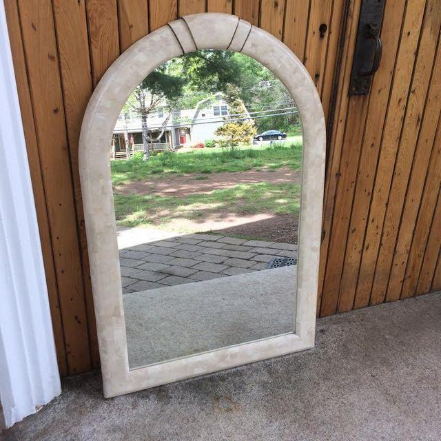 Maitland-Smith Tessellated Stone Arch Mirror - Image 2 of 5
