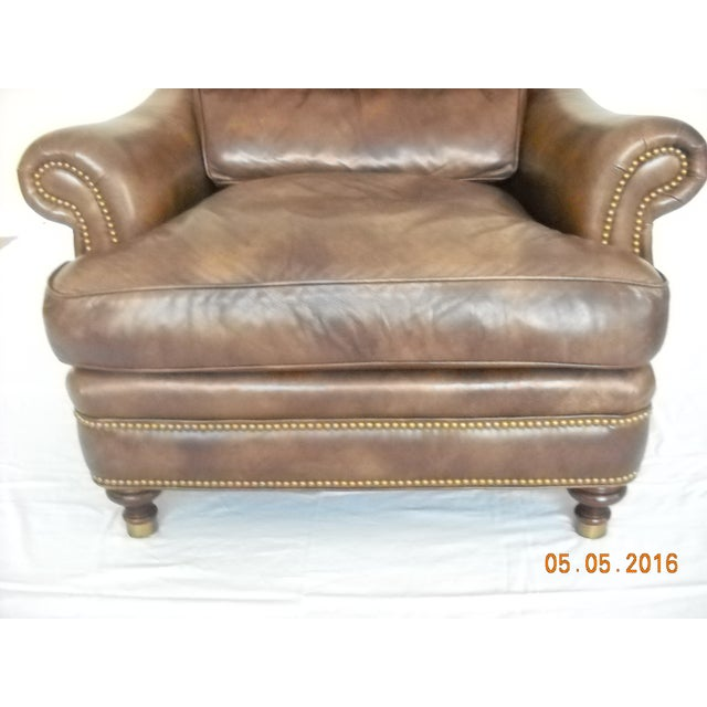 Custom Leather Chairs by Hancock & Moore - A Pair - Image 7 of 10