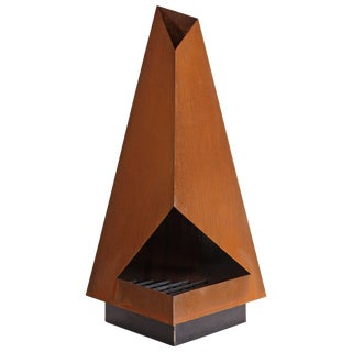 """The Three"" Steel Outdoor Chiminea Fireplace"