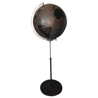 Globe by Denoyer Geppert Used for Military Aviation Training, Circa 1920s For Sale
