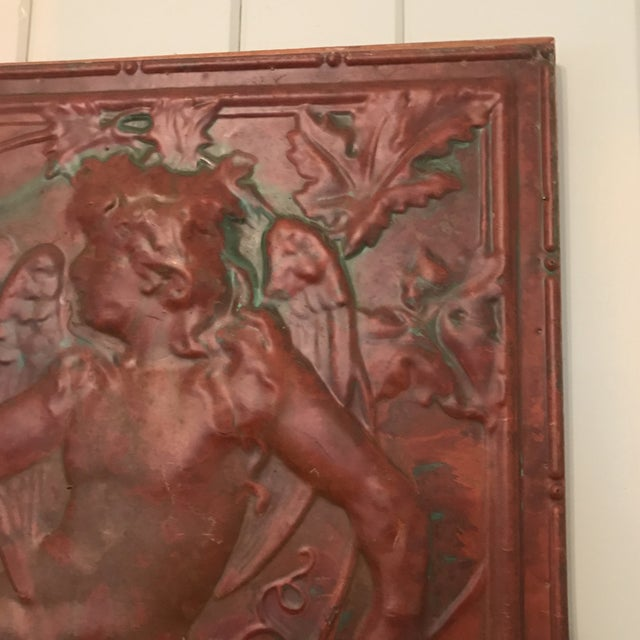 Victorian Copper Cherub Wall Panel For Sale - Image 9 of 11