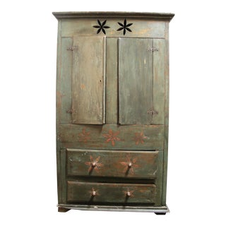 Vintage Distressed Brazilian Armoire For Sale