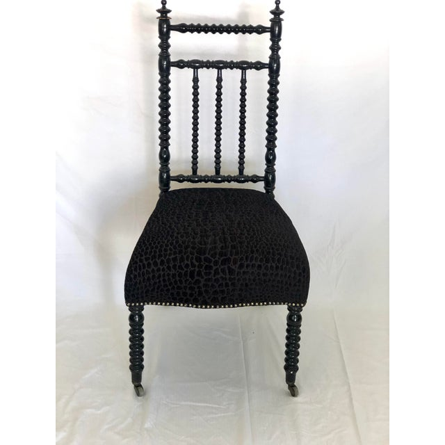 Black Antique French Prayer Chair For Sale - Image 8 of 8